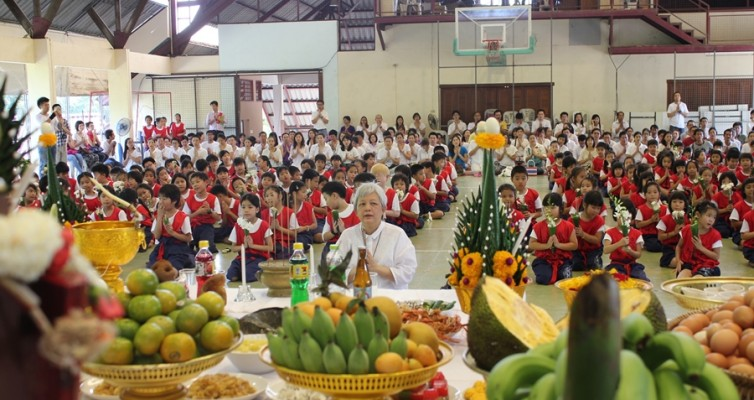พิธีไหว้ครูมวยไทยอนุบาล ๓ และประถม ๓